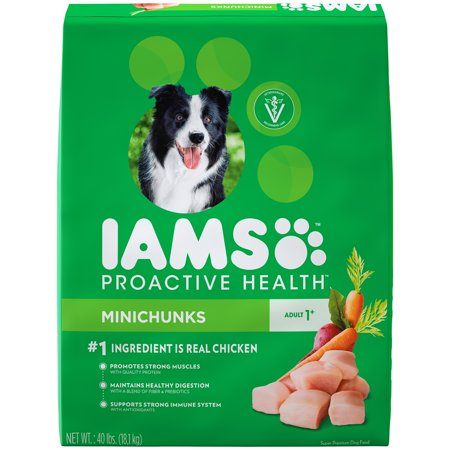 IAMS PROACTIVE HEALTH Adult Minichunks Dry Dog Food Chicken, 40 lb.