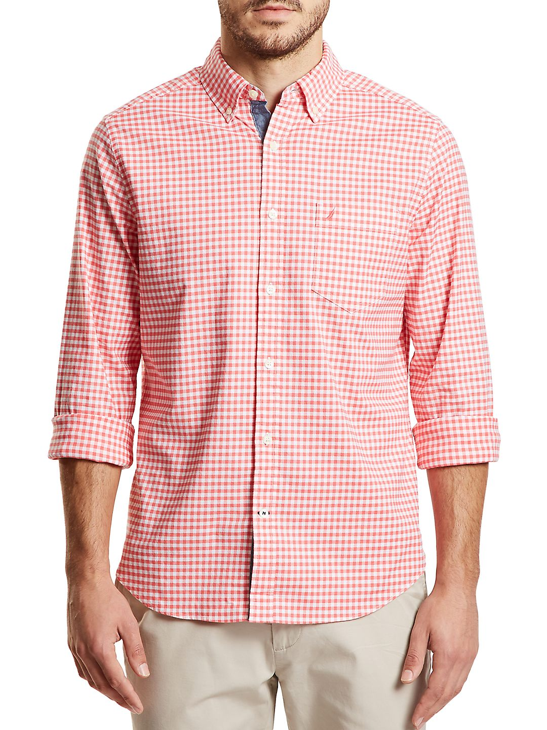 Classic-Fit Stretch-Cotton Button-Down Shirt