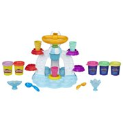Play-Doh Sweet Shoppe Swirl & Scoop Ice Cream Set with 5 Cans of Dough