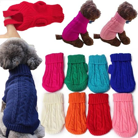 Girl12Queen Fashion Pet Dog Cat Knitted Sweater Winter Warm Coat Puppy Cute Jacket Apparel
