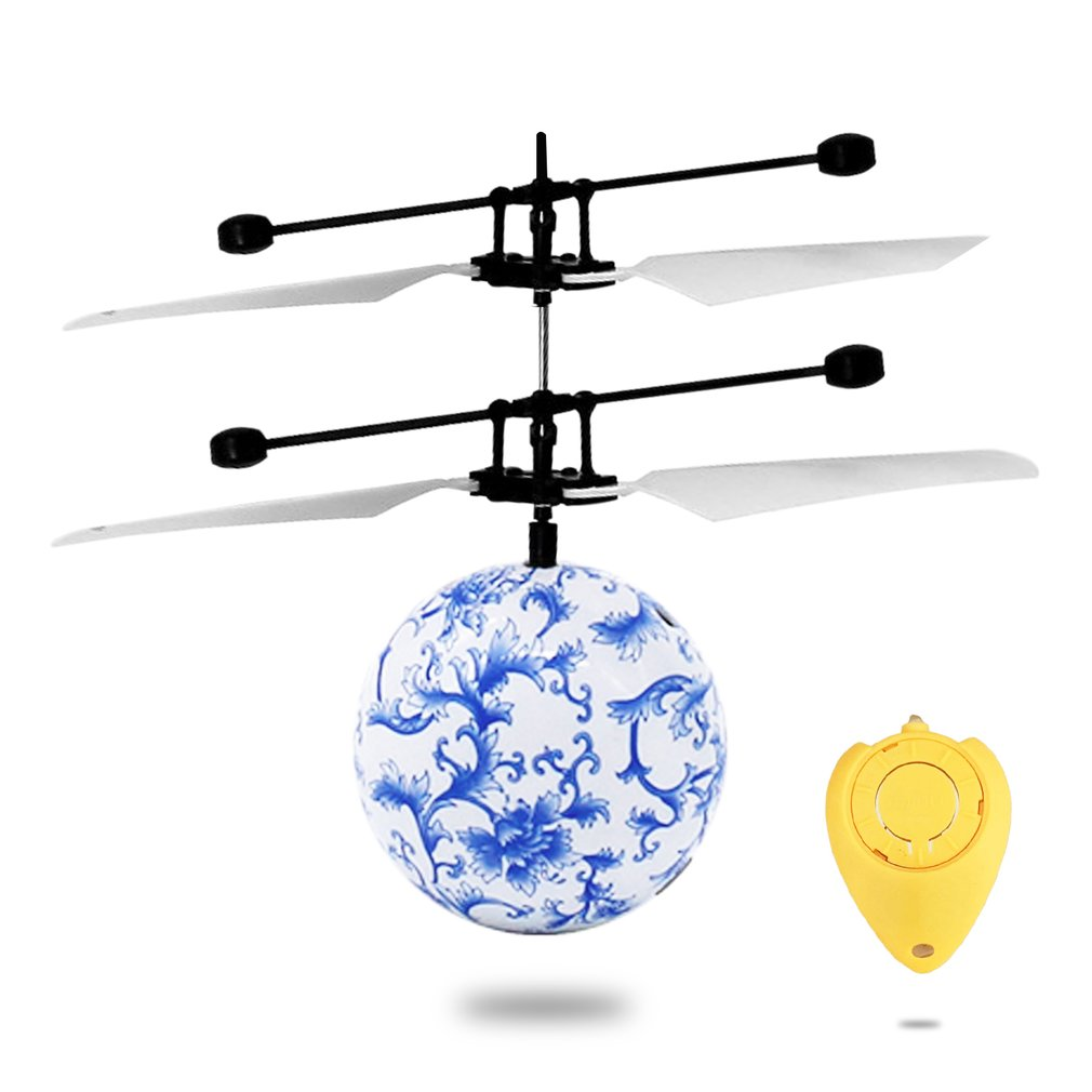 RC Toy, RC Flying Ball, RC infrared Induction Helicopter Ball Built-in Shinning LED... by