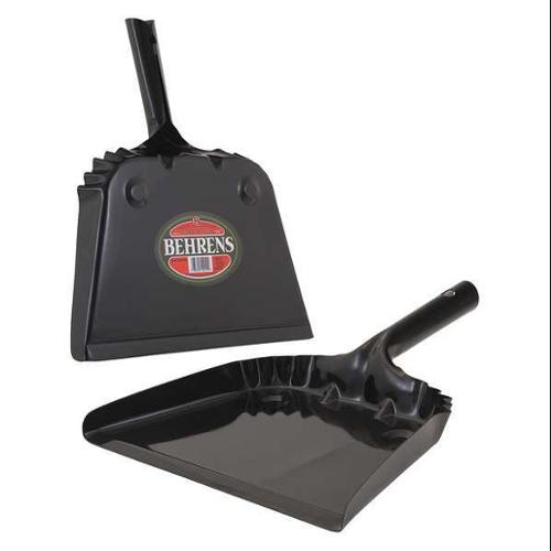 BEHRENS BS810 Dust Pan,Black,Steel G1811157