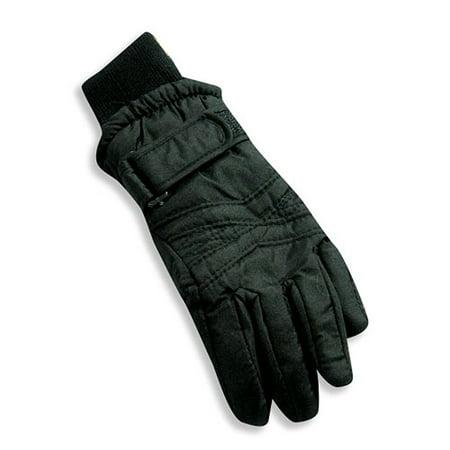 Winter Warm-Up - Little Girls Ski Gloves Black / Medium (Little Girl Black Satin Gloves)