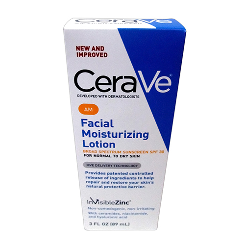 Cerave AM Facial Moisturizing Lotion For Normal To Dry Skin, SPF 30 - 3 Oz