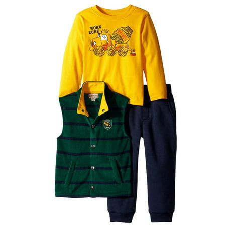 99130ee27 Kids Headquarters Infant   Toddler Boys 3 Piece Work Zone Shirt ...