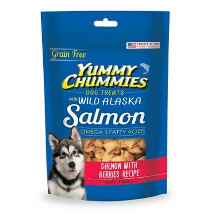 Yummy Chummies 00900-7 Grain-Free Salmon and Berries Recipe Dog Treat, 4 oz