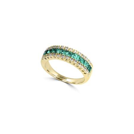 39fdeb7c70d23 Effy - Brasilica Natural Emerald, Diamond and 14K Yellow Gold Ring ...