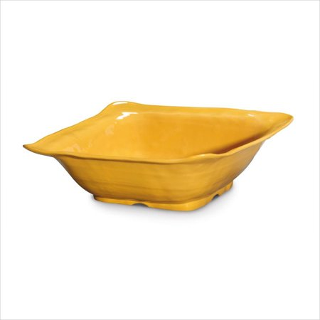 New Yorker 4.25 qt 13 x 4.5 Square Bowl Tropical Yellow Melamine/Case of -
