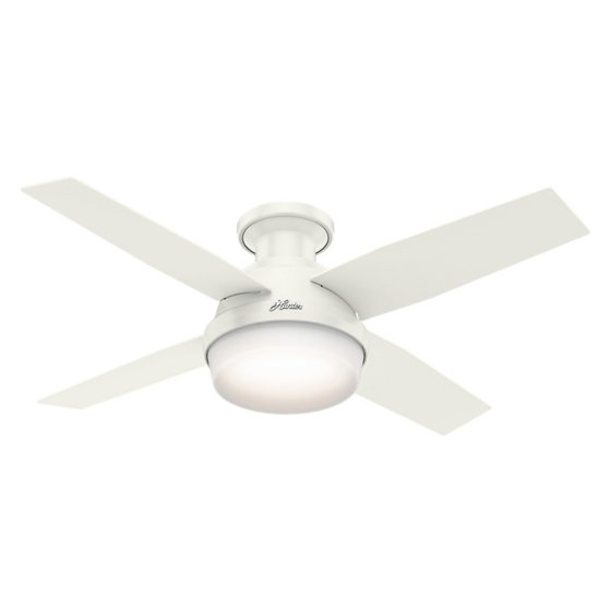 Hunter 44 dempsey low profile with light fresh white ceiling fan hunter 44 dempsey low profile with light fresh white ceiling fan with light with handheld aloadofball Images