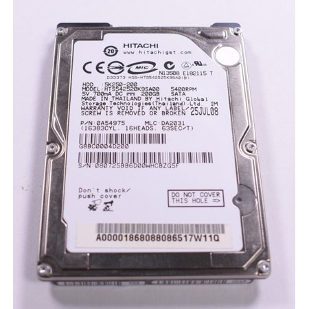 5K250-200 Hitachi 200gb 5400rpm Sata 3gbps 8mb Cache 2.5-Inch Internal Hard Drive Hitachi Internal Hard Drive