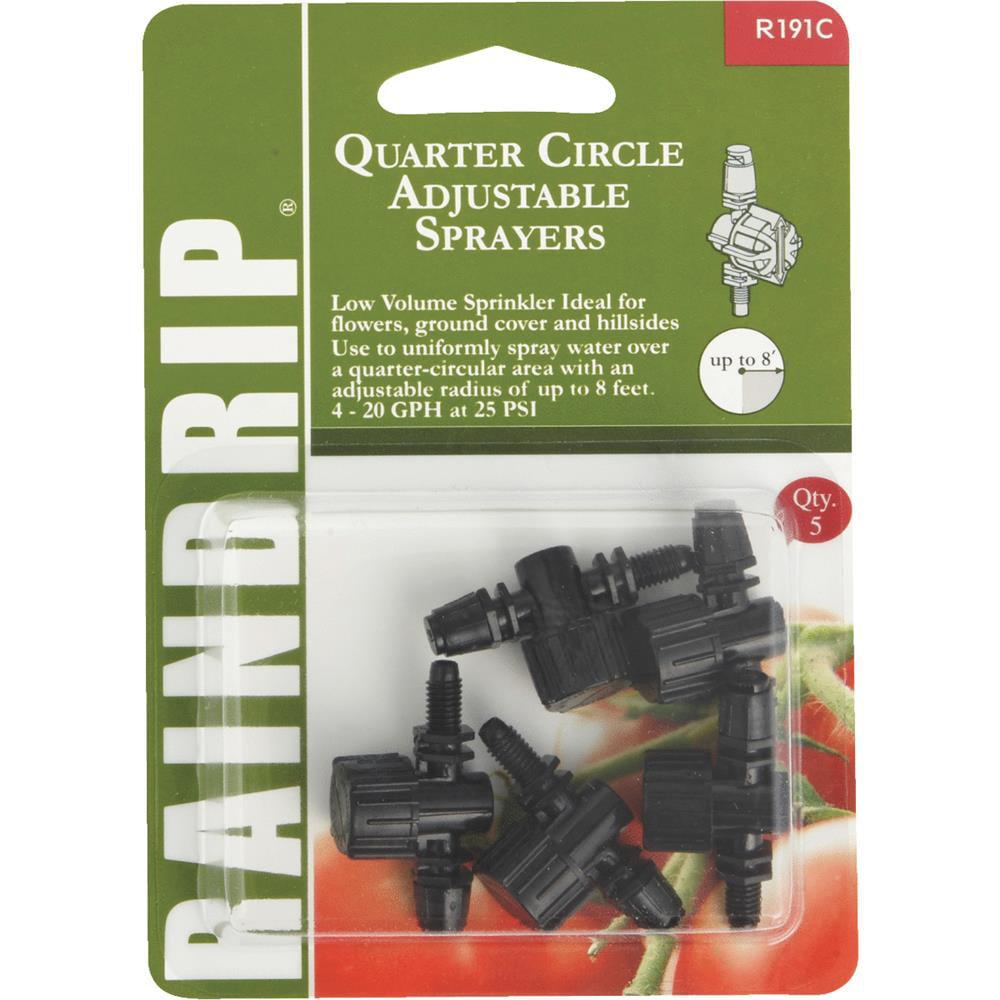 Raindrip Adjustable Qtr Circle Sprayer R191CT