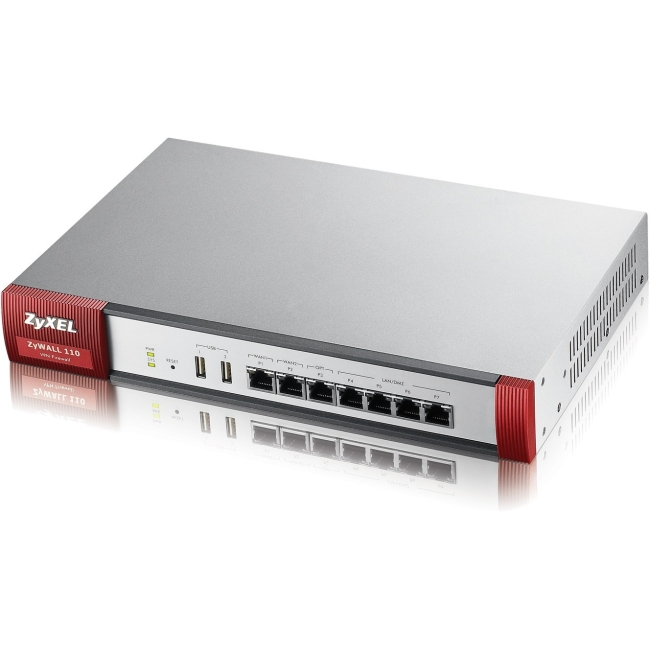 Click here to buy ZyXEL ZyWALL110 High Performance 1GbE SPI Firewall with IPSec, SSL VPN, and High Availablity 300Mbps VPN -100 IPSec... by ZyXEL.