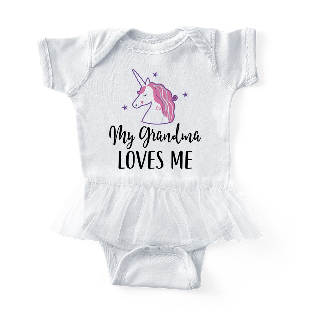 My Nana Loves Me Baby Tutu Bodysuit CafePress