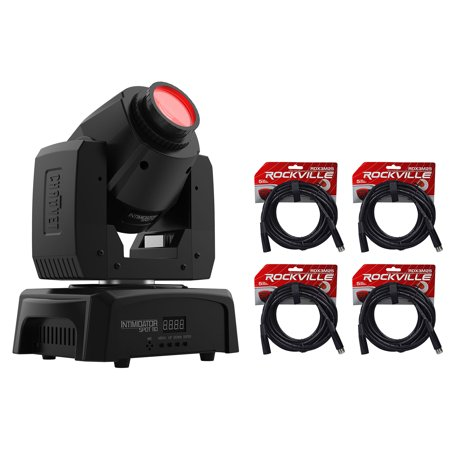 Chauvet Intimidator Spot 110 Compact Moving Head Beam Gobo DMX Light+(4) Cables