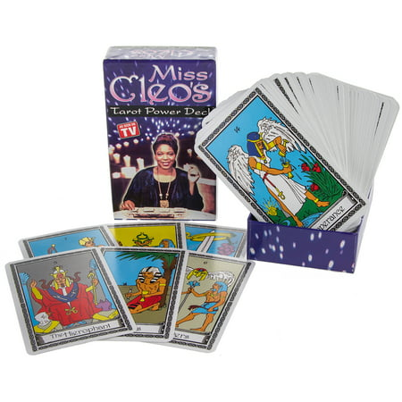 Deck Card Designs - Miss Cleo's Tarot Cards Power Deck Psychic Fortune Telling Seer Seance Seer New
