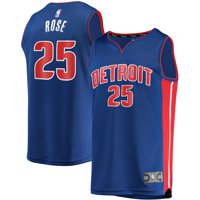 Derrick Rose Detroit Pistons Fanatics Branded Youth Fast Break Replica Player Jersey - Icon Edition - Blue