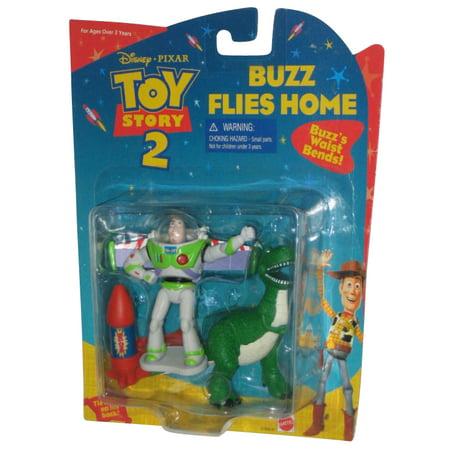Disney Pixar Toy Story 2 Buzz Lightyear Flies Home Mattel Figure Set - Toys That Fly