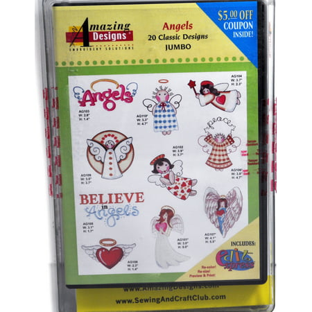 Amazing Designs Angels Embroidery CD, ADC-82JTK