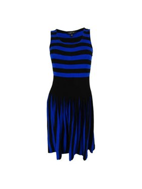 7452a44f3c5b Product Image Spense Petite Sleeveless Striped Blue Black Size PS