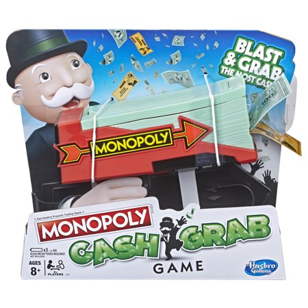 Monopoly Cash Grab Game with Money Blaster for Kids Ages 8 and up](Grab The Ghost Halloween Game)