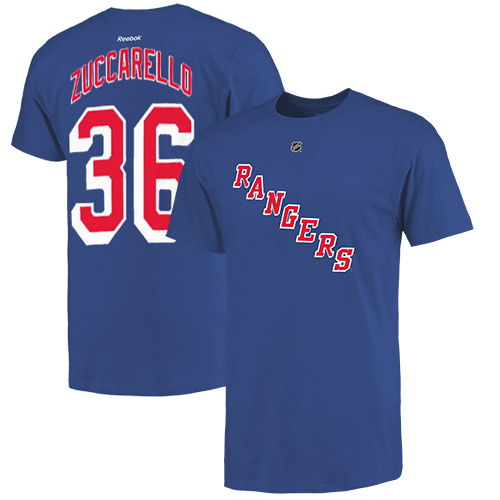 Mats Zuccarello New York Rangers Reebok Name and Number Player T-Shirt - Royal Blue