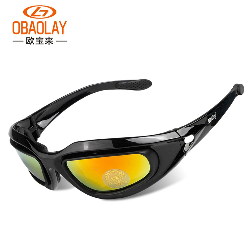 Outdoor Sport Cycling Racing Bicycle Motorcycle Goggles Sunglasses Eyewear Black