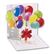 Up With Paper Balloons Pop-Up Greeting Card