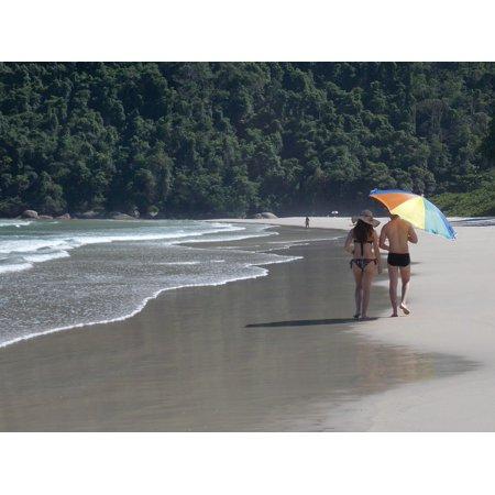 LAMINATED POSTER Sol Two Rivers Wild Beach Blue Beach Ilha Grande Poster Print 24 x 36