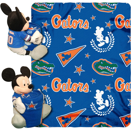 "Disney NCAA Hugger Pillow and 40"" x 50"" Throw Set, Florida Gators"
