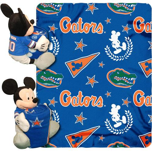 """Disney NCAA Hugger Pillow and 40"""" x 50"""" Throw Set, Florida Gators"""