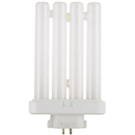 FLAT QUAD TUBE COMPACT FLUORESCENT LAMP, T4, 27 WATTS, 6500K, 82 CRI, GX10Q-4 BASE