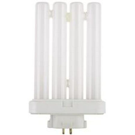 (FLAT QUAD TUBE COMPACT FLUORESCENT LAMP, T4, 27 WATTS, 6500K, 82 CRI, GX10Q-4 BASE)