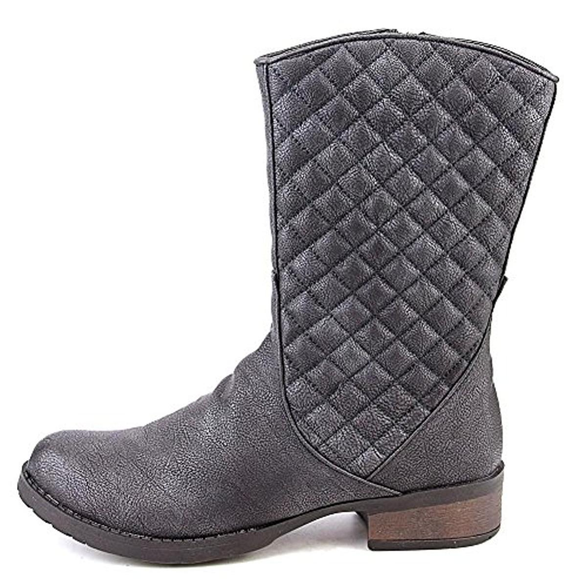 Luichiny Womens March N On Faux Leather Quilted Riding Boots by Luichiny