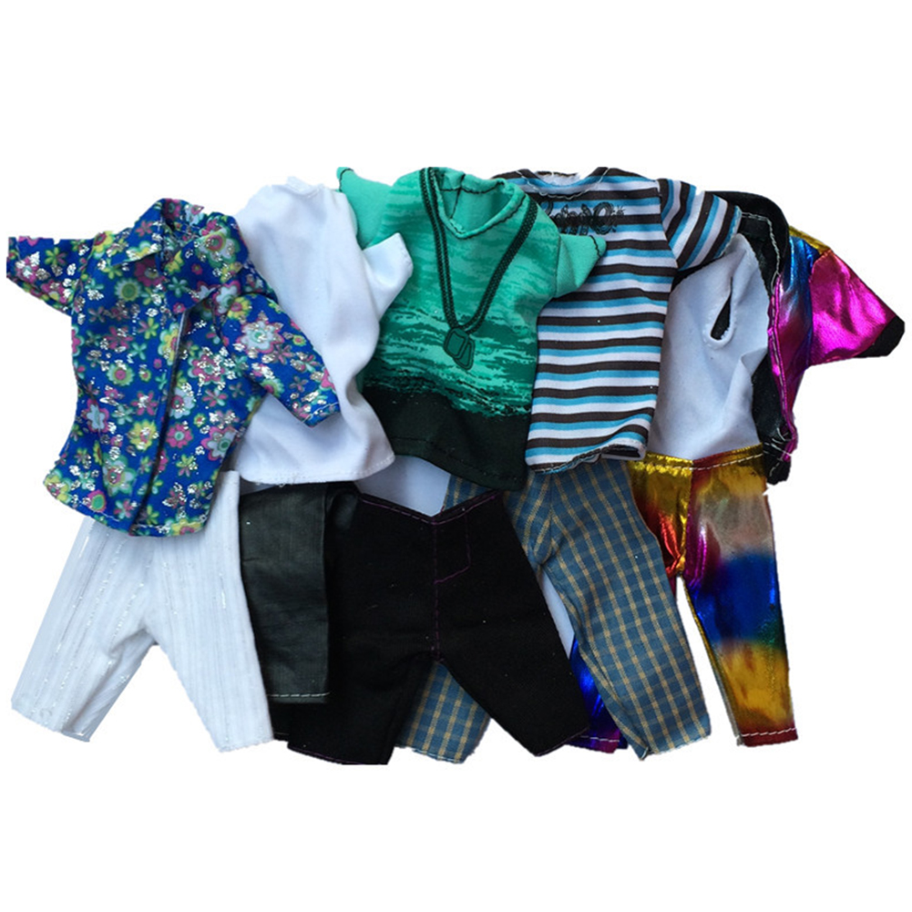 Redcolourful Fashion Casual Wear Doll Clothes Tops Pants Outfit for 's Boy Friend Ken Doll
