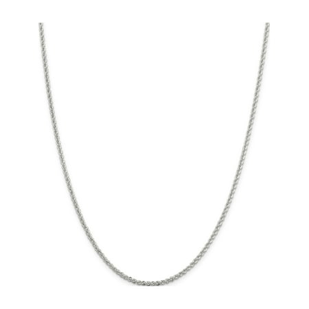 925 Sterling Silver 2.3mm Solid Rope Chain - image 5 of 5
