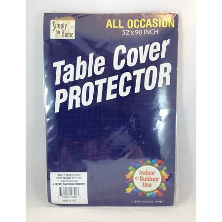 All Occasion Rectangle 52 x 90 inch Clear Plastic Vinyl Table Cover Protector](Clear Plastic Table Covers)