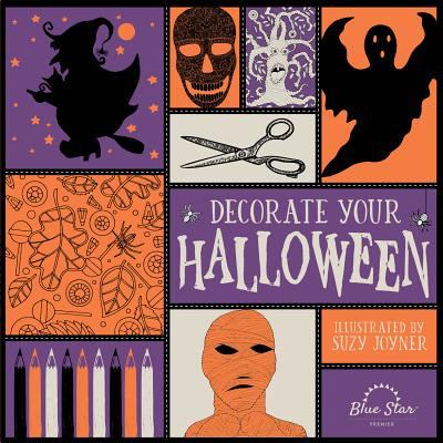 Decorate Your Halloween : An Adult Coloring Book of Halloween Crafts - Decorate Your Office Door For Halloween
