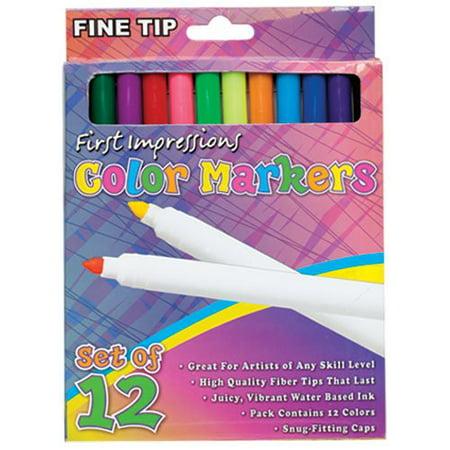 First Impressions Color Art Markers For Kids Set