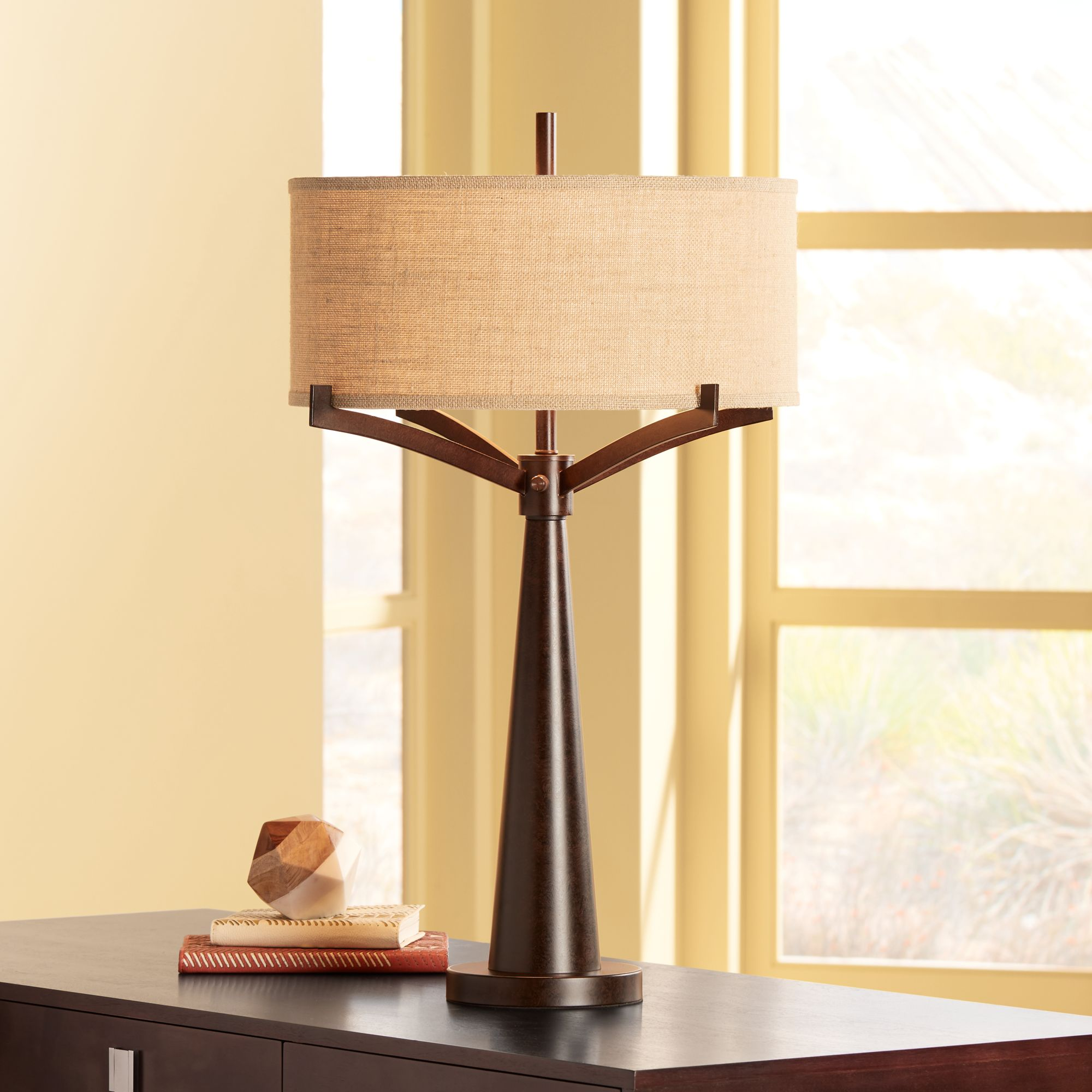Franklin Iron Works Tremont Bronze Iron Table Lamp by Franklin Iron Works