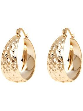18kt Gold-Plated Hoop Earrings