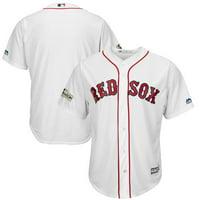 Men's Majestic White Boston Red Sox 2017 Postseason Cool Base Team Jersey