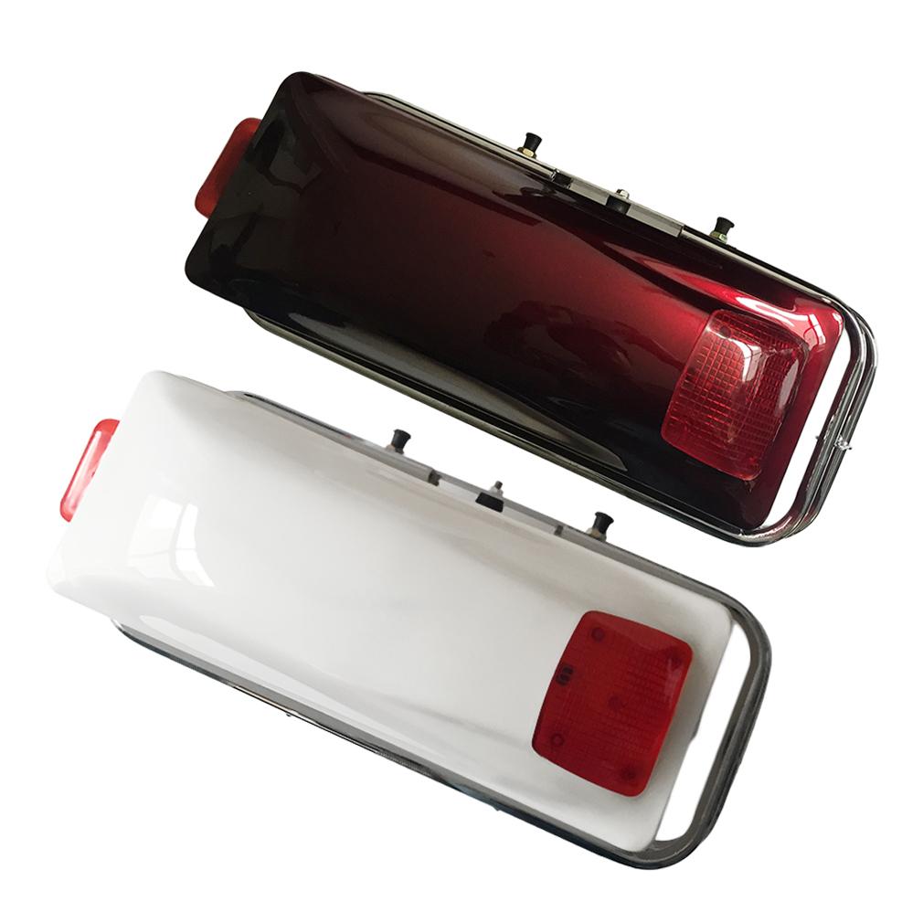 Motorcycle Hard Saddlebag Trunk Bag Luggage New Tail Ligh...
