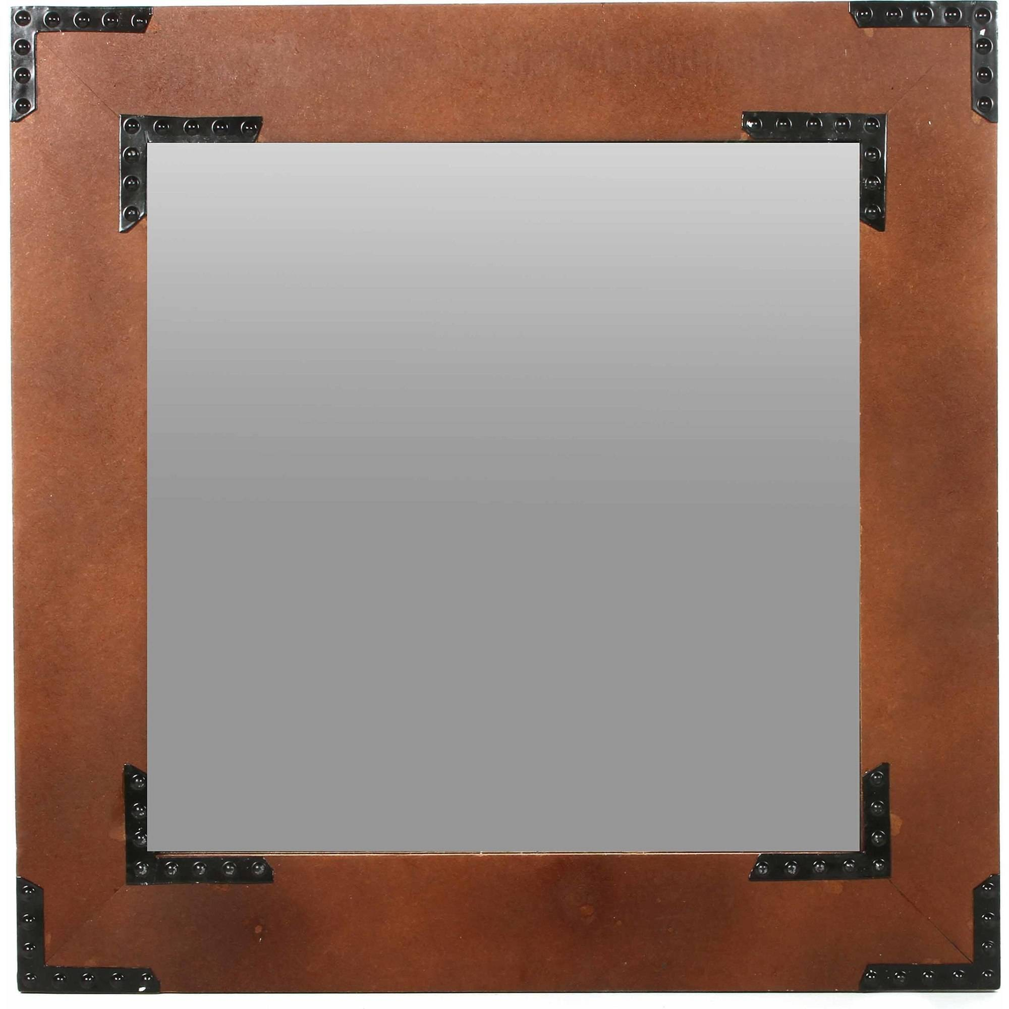 "Mainstays 20"" Square Wood Decorative Wall Mirror by HG Global, LLC"