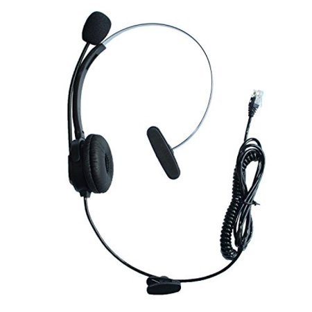 GoodQbuy Call Center Telephone /IP Phone Headset with Adjustable Boom Mic 4-pin RJ9 Modular Connector for 3Com Aastra Alcatel-Lucent AltiGen Ascom AVAYA Cable & Wireless Cisco (CIS) Comdial Commander Wireless Headsets Avaya Phones