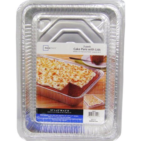 Mainstays Cake Pans with Lids, 2 Count