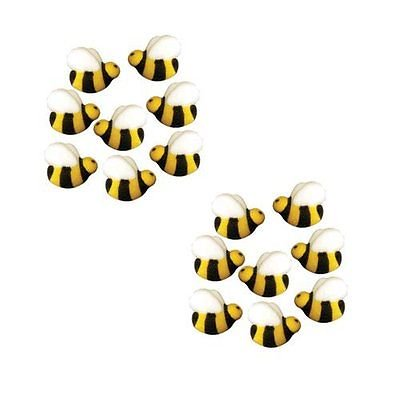 Bumble Bee Edible Sugar Decorations - 16 Count - National Cake Supply - Halloween Cakes Decorations
