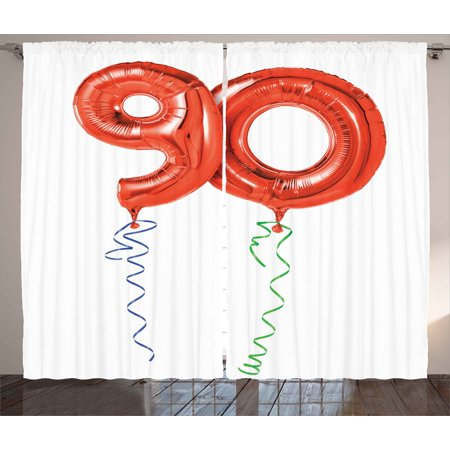 surprising red green living room | 90th Birthday Decorations Curtains 2 Panels Set, Flying ...
