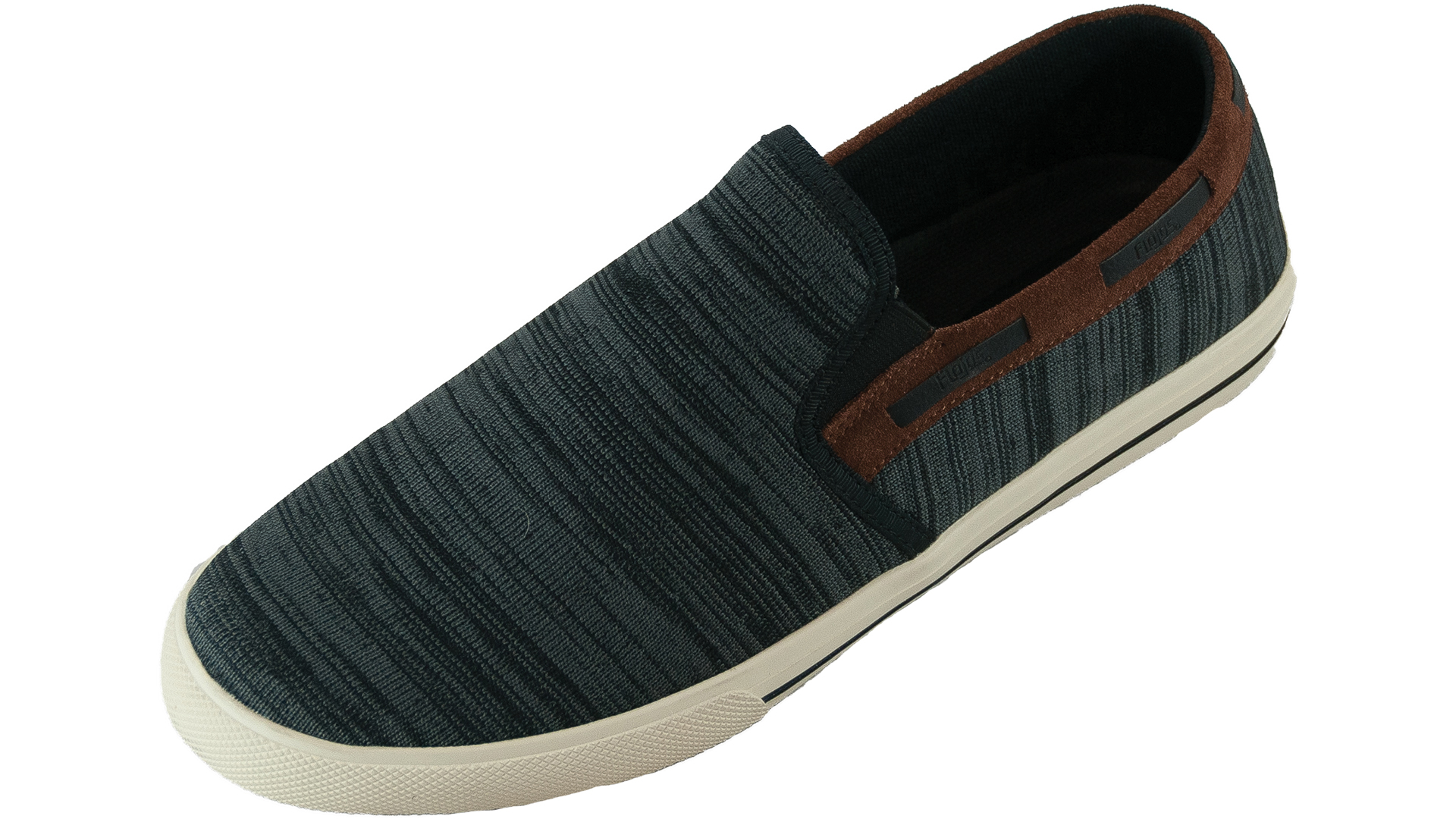 Flojos Mens Cozumel Slip On Sneaker (Black Brown, 9.5) by