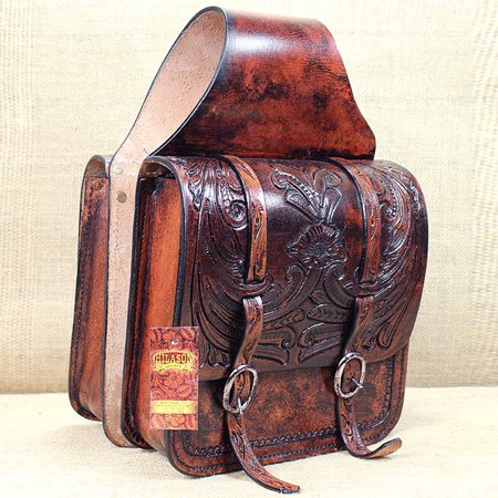 Western Riding Saddle Set - HILASON WESTERN LEATHER COWBOY TRAIL RIDE HORSE SADDLE BAG 12 X 11 X 3.5 INCH