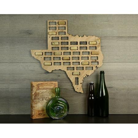Wine Cork Traps State of Texas Wooden Wine Cork Holder Organizer Wall Decoration ()